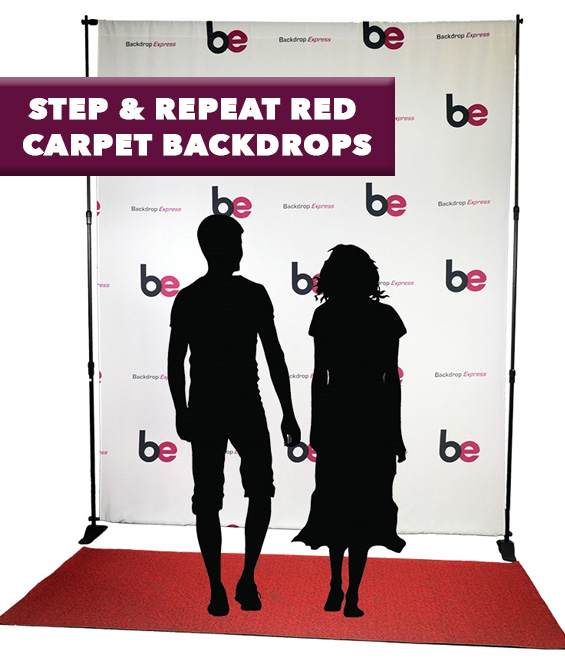 step and repeat red carpet Backdrops