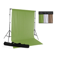 Brown, Green & White Fabric Backdrop Kit