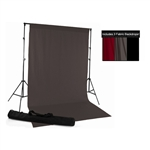 Red, Gray & Black Fabric Backdrop Kit
