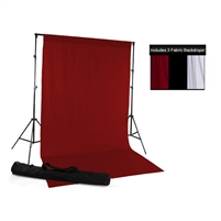 Red, Black & White Fabric Backdrop Kit