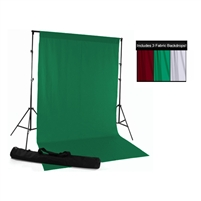 Red, Green & White Fabric Backdrop Kit