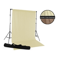 Lemon Cream & Mocha Backdrop Kit
