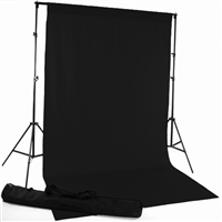 Deep Black Fabric Backdrop