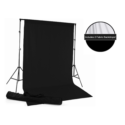 Black & White Fabric Backdrop Kit