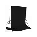 Black Fabric Backdrop Kit