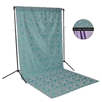 Teal Damask & Purple Fabric Backdrop Kit