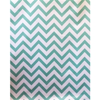 Teal Chevron Fabric Backdrop