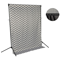 Gray Chevron & Charcoal Gray Fabric Backdrop Kit