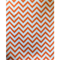 Pumpkin Chevron Fabric Backdrop