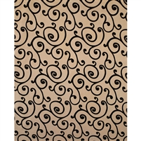 Champagne & Black Swirl Fabric Backdrop