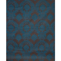 Teal & Chocolate Damask Fabric Backdrop