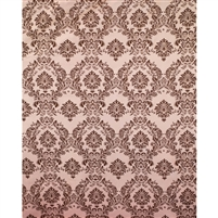 Pink & Chocolate Damask Fabric Backdrop