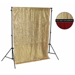Gold Sequin & Red Fabric Backdrop Kit