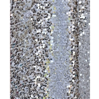 Silver Sequin Fabric Backdrop