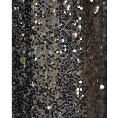 Black Sequin Fabric Backdrop