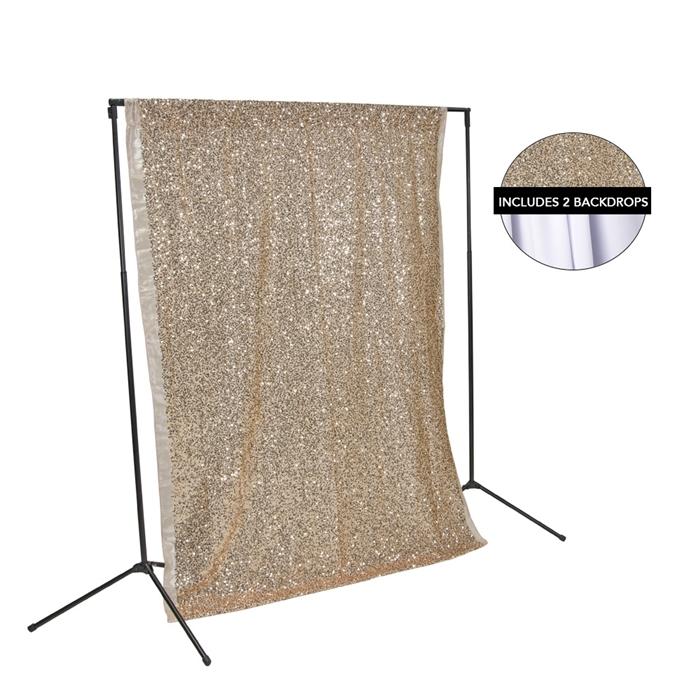 Rose Gold Sequin Amp White Fabric Backdrop Kit Backdrop