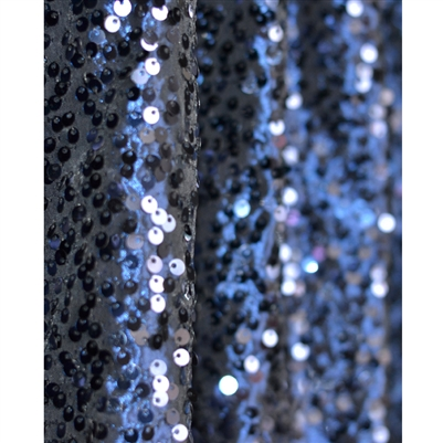 Navy Sequin Fabric Backdrop