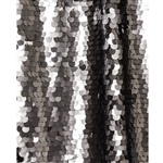 Charcoal Super Sequin Fabric Backdrop - 9ft (w) x 5ft (h)