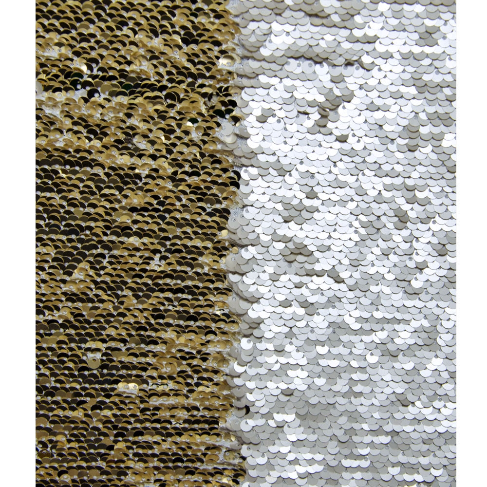 Gold And White Mermaid Sequin Fabric Backdrop Backdrop