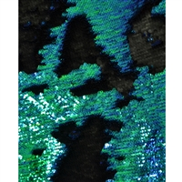 Turquoise and Black Mermaid Sequin Fabric Backdrop