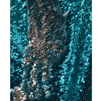 Teal and Silver Mermaid Sequin Fabric Backdrop