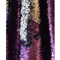 Purple and Silver Mermaid Sequin Fabric Backdrop