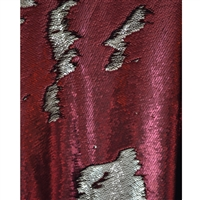 Red and Champagne Mermaid Sequin Fabric Backdrop
