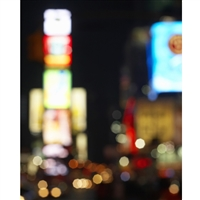 Bokeh City Lights Printed Backdrop