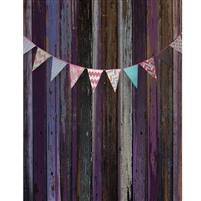 Pink and Purple Bunting Printed Backdrop