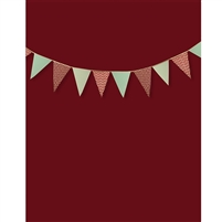 Chistmas Bunting Printed Backdrop