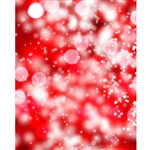 Red Shimmering Snowflakes Printed Backdrop