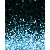 Blue Bokeh Printed Backdrop