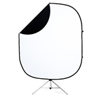 White / Black Collapsible & Reversible Backdrop