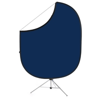 Navy Blue / White Collapsible Backdrop