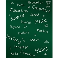 Classes Chalkboard Printed Backdrop