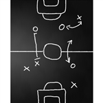 Soccer Play Chalkboard Printed Backdrop