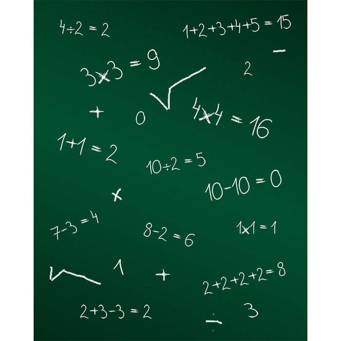 Math Chalkboard Printed Backdrop Backdrop Express