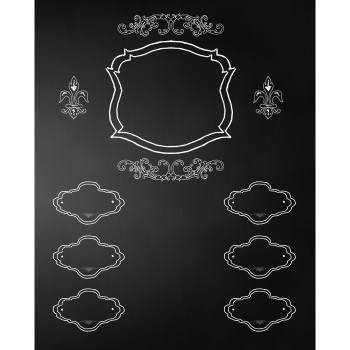Wedding Frames Chalkboard Printed Backdrop