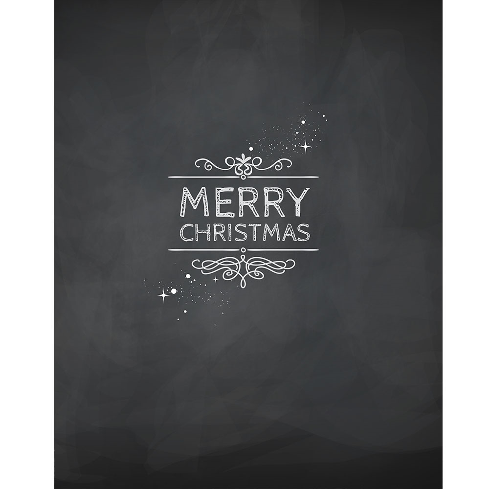 Merry Christmas Chalkboard Printed Backdrop Backdrop Express