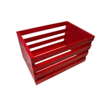 Red Wooden Posing Crate
