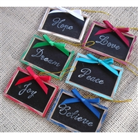 Mini Christmas Chalkboard Photo Props - Set of 6