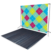 Spring Argyle Floor Extended Printed Backdrop