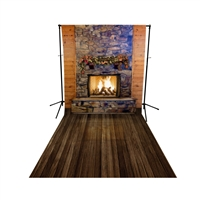 Cozy Cabin Floor Extended Printed Backdrop