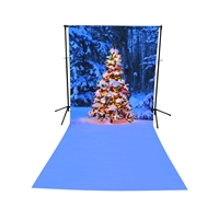 Christmas in the Forest Extended Printed Backdrop