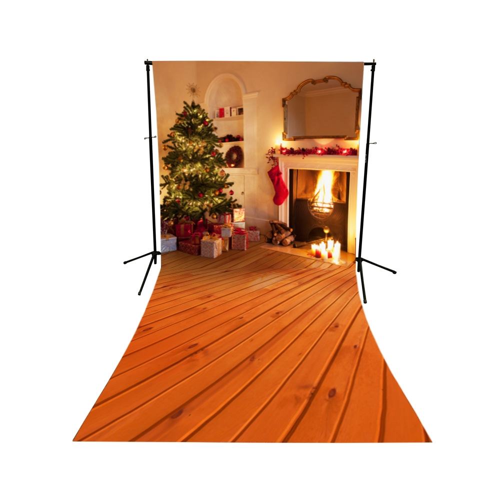 Christmas Foyer Floor Extended Printed Backdrop Backdrop