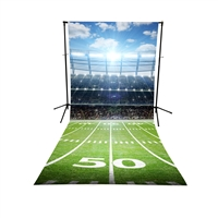 Football Field Floor Extended Printed Backdrop