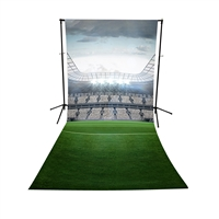 Sports Arena Floor Extended Printed Backdrop