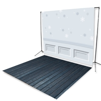 Winter Wainscoting Floor Extended Printed Backdrop