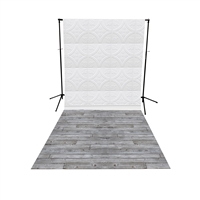 White Tin Tiles & Gray Pine All-in-One Printed Vinyl Backdrop