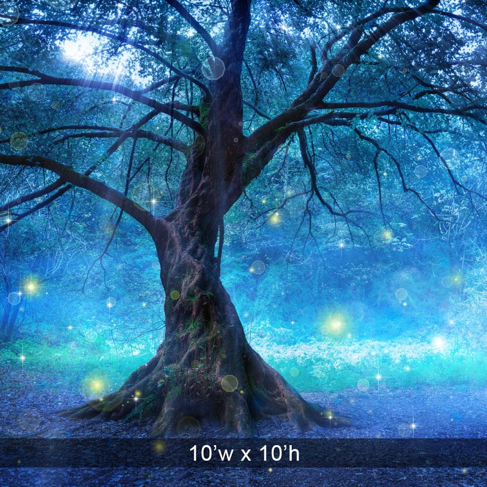 Enchanted Tree Printed Backdrop Backdrop Express